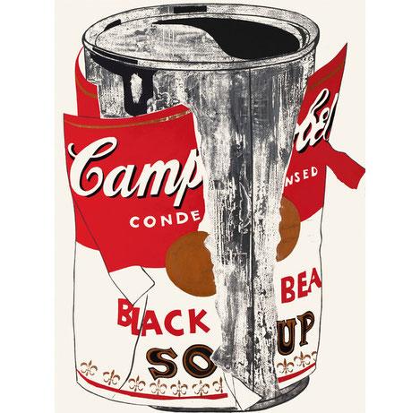 Andy Warhol el wurú del pop art y su lata de sopa Campbell´s 1962.Acrílico sobre lienzo 183cmx137cm,Düsseldorf.