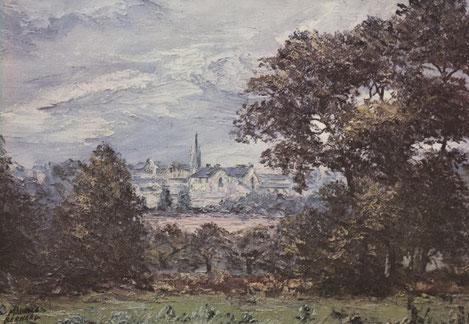 La campagne à Hénansal (peinture de Maurice Bernard)
