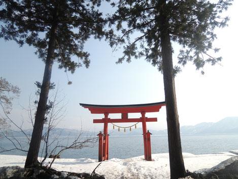 御座石神社にも行きました。素晴らしい景観です。