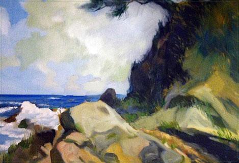 KATA MAIN BEACH  - Olieverf & Acrylic op doek  70 x 100 cm