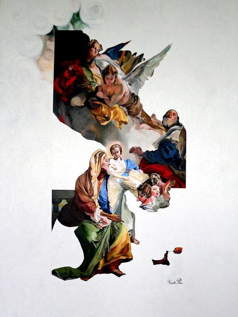Le Fond et la Forme - huile/toile - 130 x 97