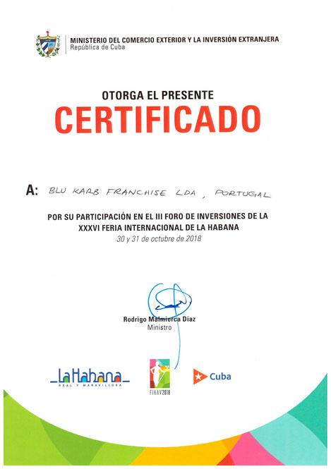 El ministerio cubano se reúne con Blu Karb para la tecnología de producción de carbón vegetal