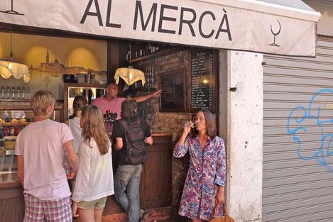 Prosecco Weinbar Al Merca Venedig