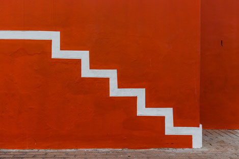 Painted stairs in Bo-Kaap, Capetown