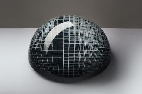 Inner Network | glued, cut, hand drawn, polished glass | 40 x  20 cm | 2016