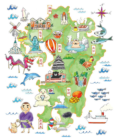 九州イラストマップ