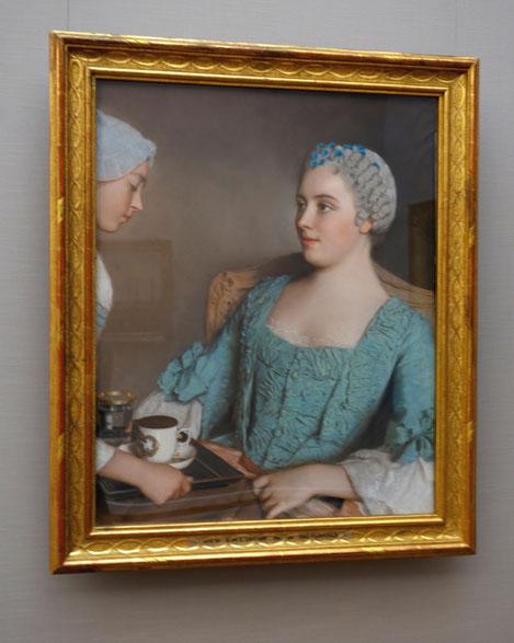 Le Petit Dejeuner, Etienne Liotard, c. 1753, currently/Dez 2014 Neue Pinakothek München, Nina Möller