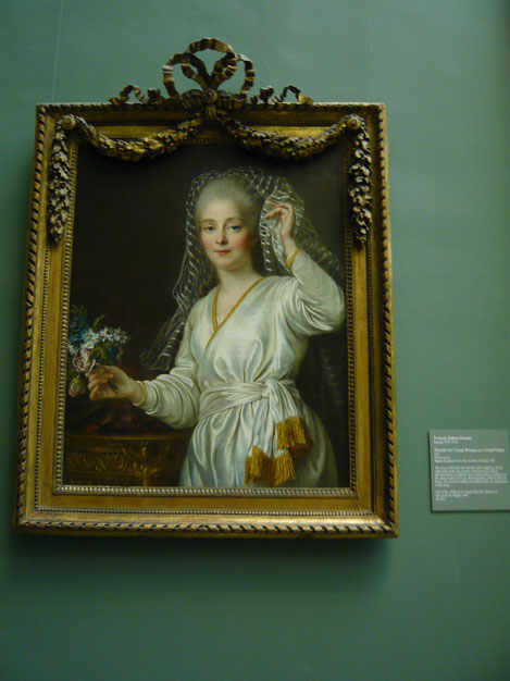 'Portrait of a Young Woman as a Vestal Virgin', Francois Hubert Drourais, 1767, The Metropolitan Museum of Art. picture taken by Nina Möller