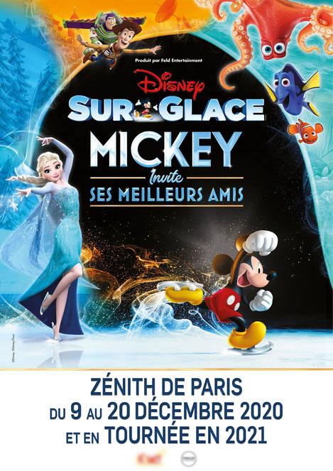 Disney sur glace un spectacle evenement CSE 2020 pour toute la famille special Groupe et CSE