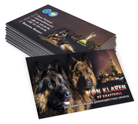 Von Klaren de Kraftvoll Kennel, FCI, UKU, Kennel, German shephard dog, luxury kennel business cards design, elegant kennel business cards template design ideas, best creative luxury business cards ideas, 2017, order, PRS LA BEAUTY