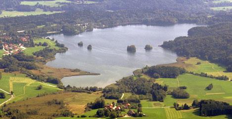 Seehamer See, Leitzachwerk und Vogelschutzzone
