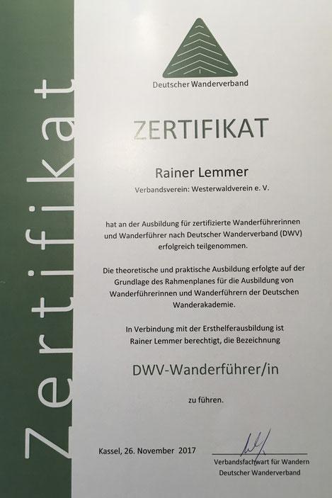Zertifizierter anderführer Rainer Lemmer