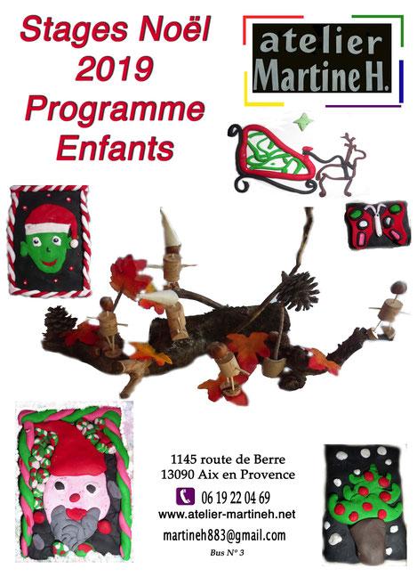 activités pour enfants -vacances de Noël 2019 à Aix en Provence