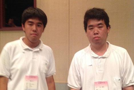 左から 赤間太一くん(3年)、谷上義成くん(3年)