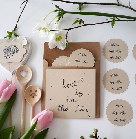 Hochzeit Schön dass Du da bist Karte DIY