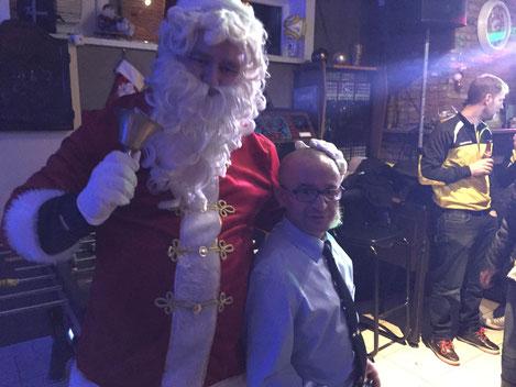 De kerstman was op bezoek na de wedstrijd , Lokeren - Waasland-Beveren