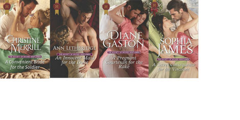 Cover images of the Society of Wicked Gentlemen series