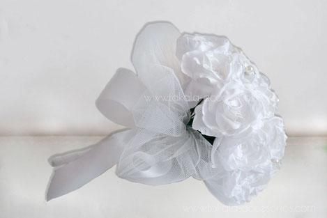Ramo de novia artesanal, ramo de flores de tela, ramo de novia de rosas hechas a mano.