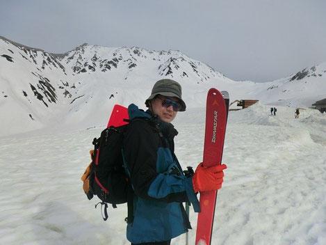 最近の山スキーでの1枚。立山にて