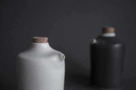 monochrome porcelain tableware black white handmade