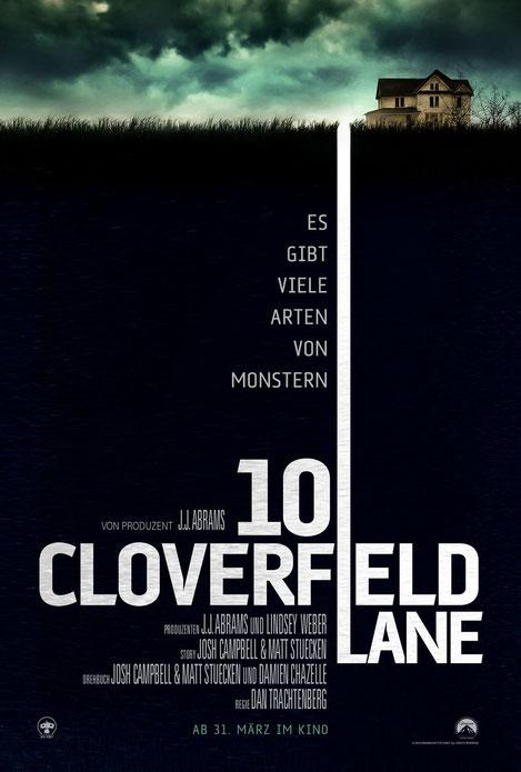 Dan Trachtenberg - 10 Cloverfield Lane - Paramount - kulturmaterial - Plakat Poster