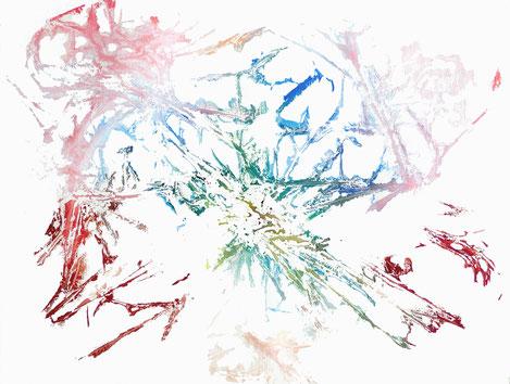 sans titre, monotype 02, dim. 46 x 61 cm, 2021