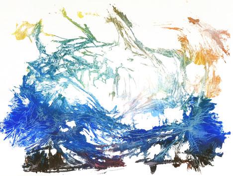 sans titre, monotype n°4, dim. 46 x 61 cm, 2021
