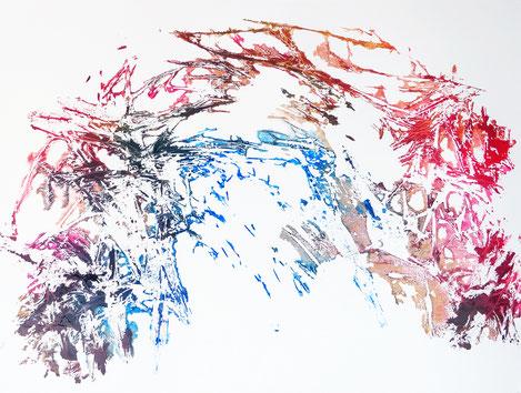 sans titre, monotype n°5, dim. 46 x 61 cm, 2021