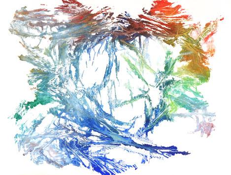 sans titre, monotype n°3, dim. 46 x 61 cm, 2021