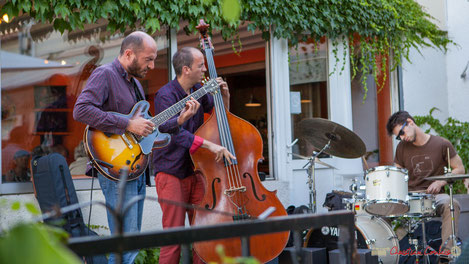 Thomas Saint-Laurent, Thomas Julienne, Tom Peyron; TSL Trio, Festival JAZZ360, restaurant les Acacias, Cénac. 10/06/2017