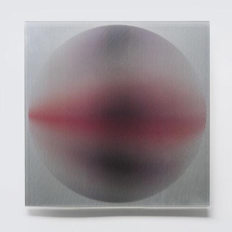 Rising III.  | silk printed, laminated, polished glass  |  40 x 40 cm  |  2013 | ●
