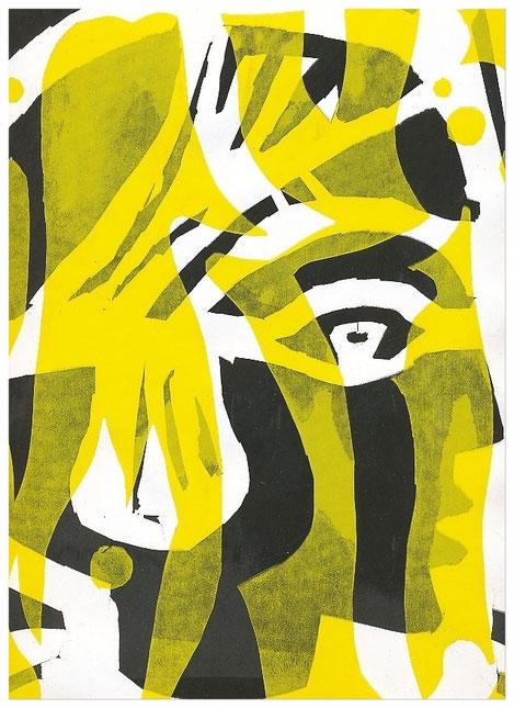 """""""Archaischer Kopf"""" 1995, Siebdruck"""