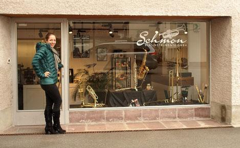 Musikhaus Schmon Blasinstrument Flums Geschäft und Werkstatt in Flums