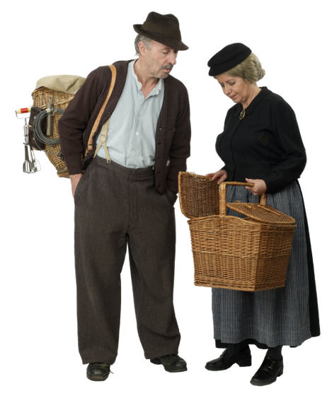 Die Komiker Gottfried und Elise aus dem Emmental im Kanton Bern