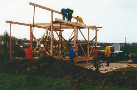 Das Garten-/Gerätehaus wird in Ständerbauweise errichtet.