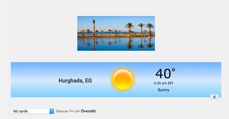 Current Weather in Hurghada with www.apartmentsinhurghada.com