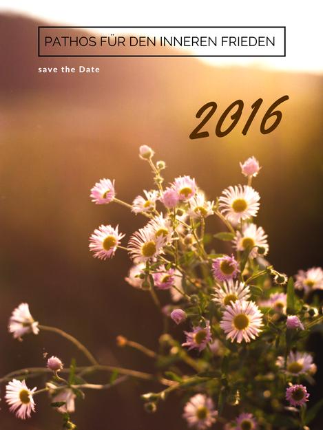 Pathos für den inneren Frieden - save the date