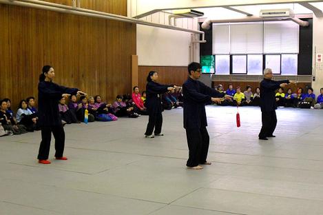伝統中国武術交流会での演武