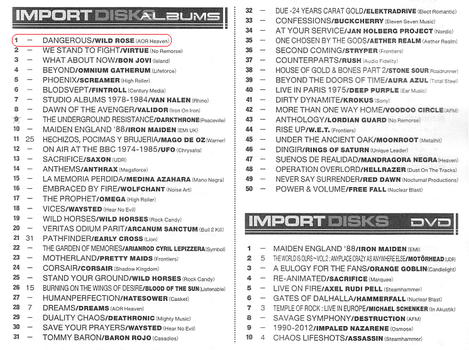 Album Chart on Burrn June 2013