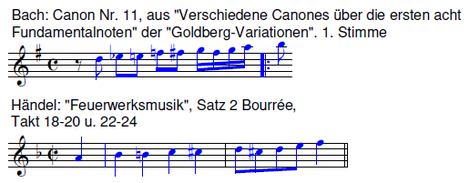 Canon | Kanon Bach und Händel