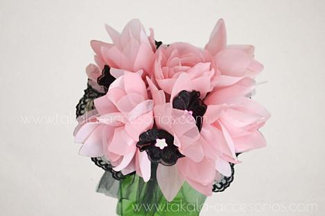 Ramo artesanal, flores de tela, ramo tela, ramo fantasía, bouquet tela, flores artificiales.