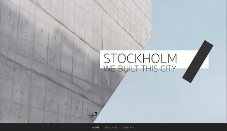 Stockholm トップページ PC