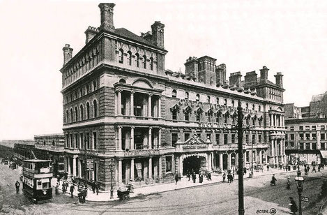 The third Snow Hill Station fronted by the Great Western Hotel in 1914. Thanks for the use of this image to Mike Musson, Warwickshire Railways.