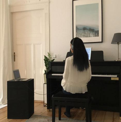 Maria Nguyen-Nhu, Online-Klavierunterricht via Skype oder Facetime