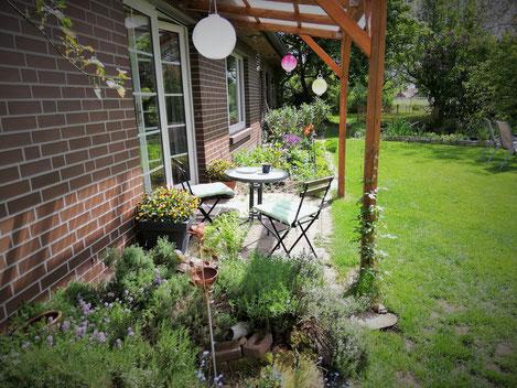 Garten, Sitzplatz, Grill