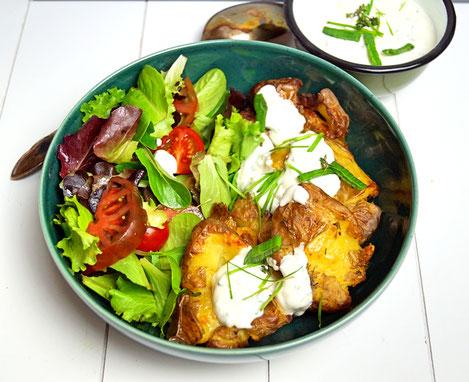 Backofenkartoffeln mit Luggeleskäs aka Frühlingsquark