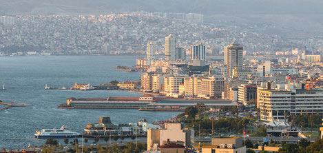The view of the  city of Izmir from Asims balcony