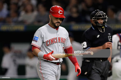 Eugenio Suarez dei Cincinnati Reds quest'anno ha battuto 49 HR ma ha subito 189 strikeout in 575 AB (Getty Images)