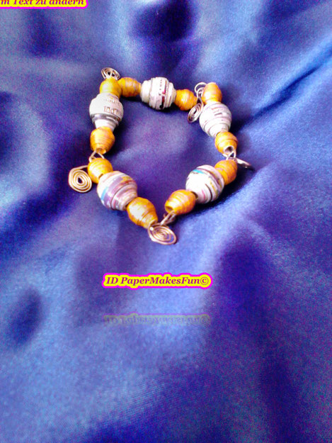 Paperbead Bracelet with Wire