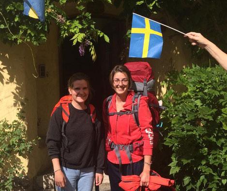 Magdalena und Leonie in Vadstena